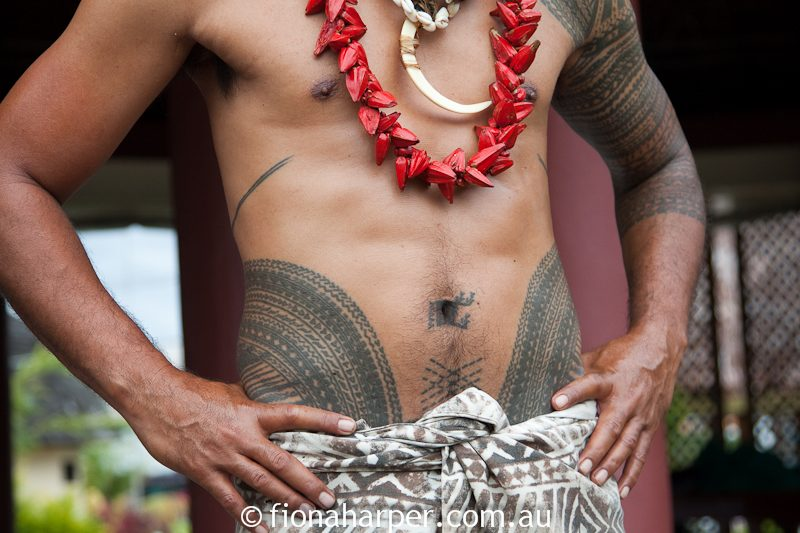Samoan man Chris Soloman with traditional full body tattoo | Travel Boating Lifestyle