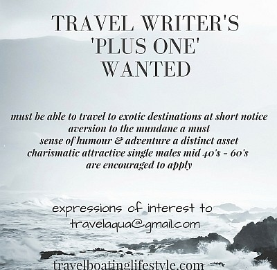 travel writer's 'plus one' wanted