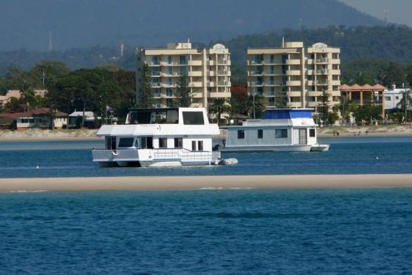 Gold Coast Broadwater houseboats