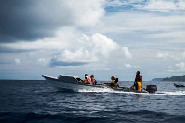 Boat trip to Santa Catalina Island, Solomon Islands