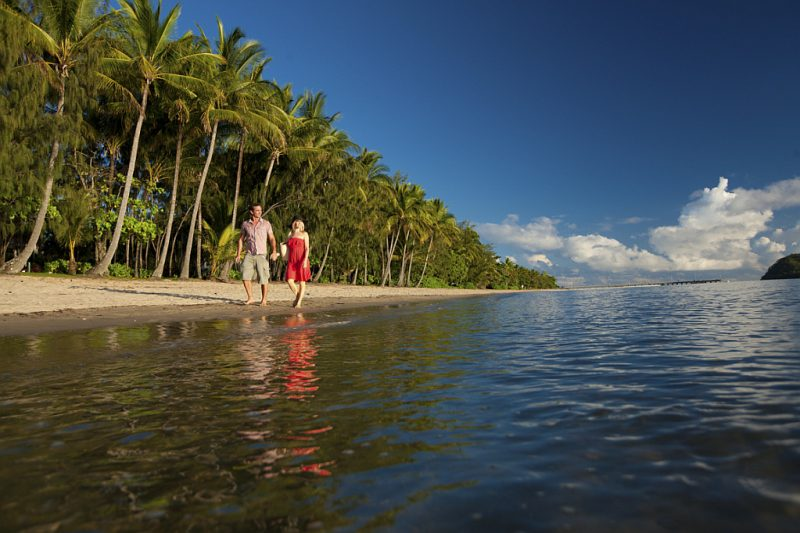 Ironman morning at Palm Cove was meant to look like this! Photo Tourism Tropical North QLD