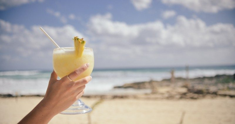 Cocktail on beach