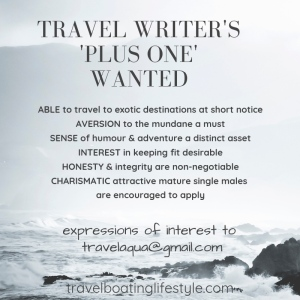 Travel Writers Plus One | Travel Boating Lifestye